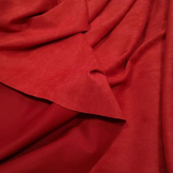 Искусственная замша для обложек,  цвет: алый, zamsha_20