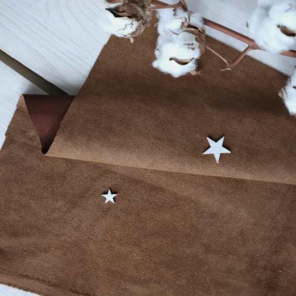 Искусственная замша для обложек,  цвет: коричневый, zamsha_14