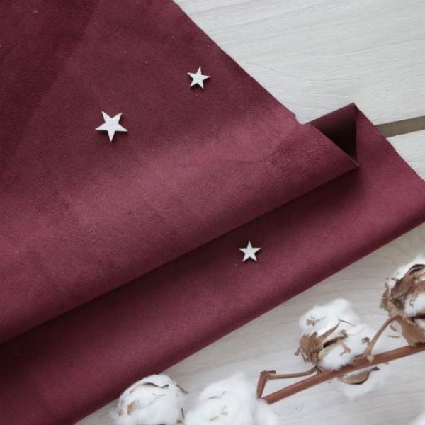 Искусственная замша для обложек,  цвет: вишневый, zamsha_19