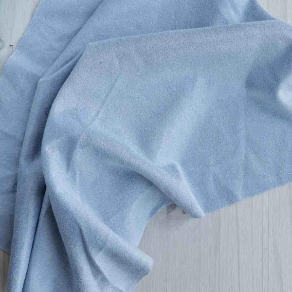 Искусственная замша, коротковорсная, цвет: голубой, zamsha_3