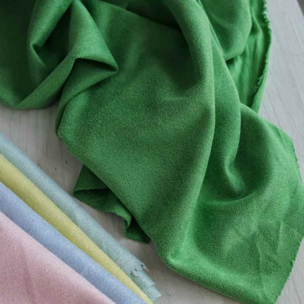 Искусственная замша, коротковорсная, цвет: зеленый, zamsha_6