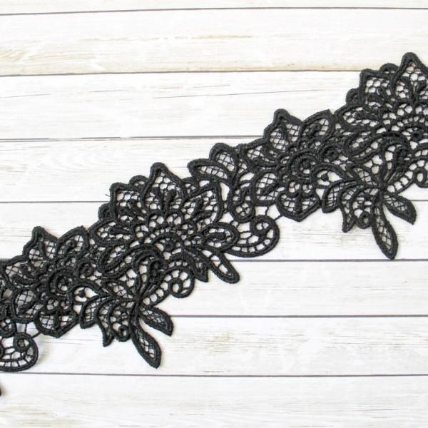 Кружево, черное, ширина 6 см арт. 31.91, отрез 50 см