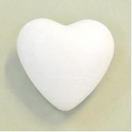 Сердце объемное пенопластовое, 6 см