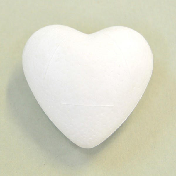 Заготовка пенопластовая - обьемное сердце, d 6 см арт. 62