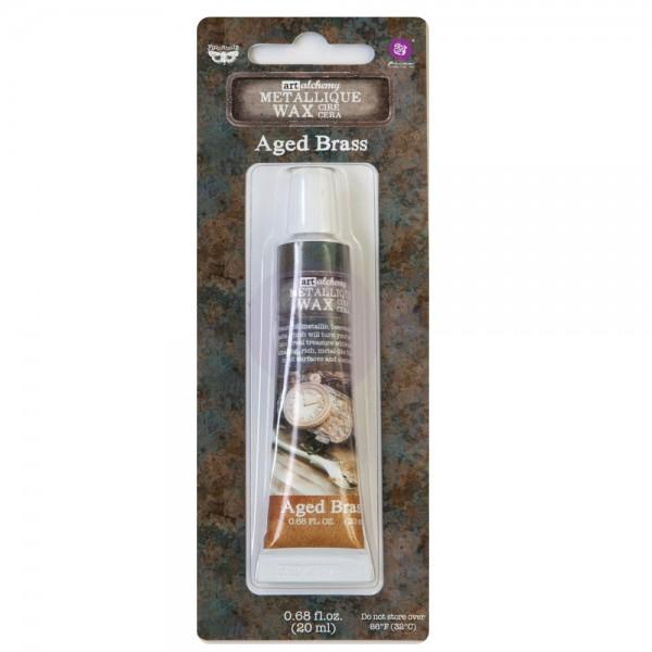 Восковая  паста Prima Marketing, Art Alchemy - Metallique Wax -  Aged Brass, 20 мл