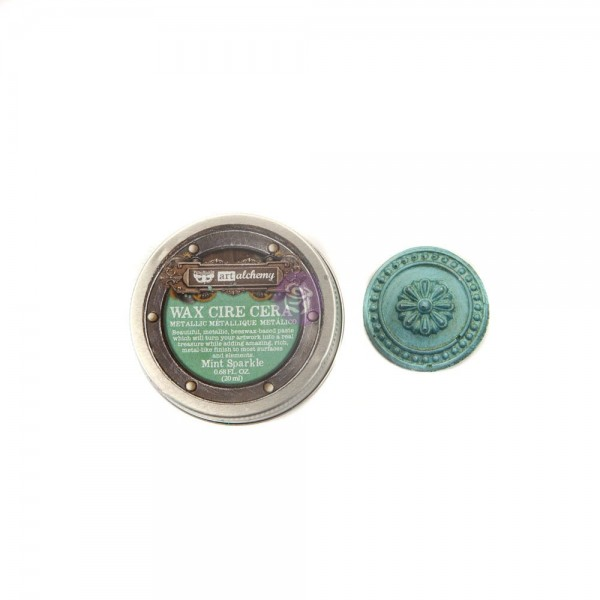 Восковая паста Prima Marketing, Finnabair Metallique Wax - Mint Sparkle, 20 мл