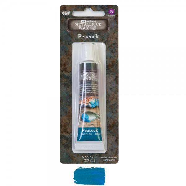 Восковая паста Prima Marketing, Finnabair Metallique Wax - PEACOCK, 20 мл