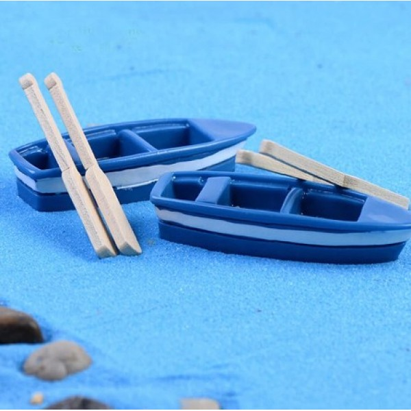 Лодка и 2 весла, р-р 6,5 х1,2 см