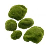Искусственный мох, имитация кочки, р-р 4 см