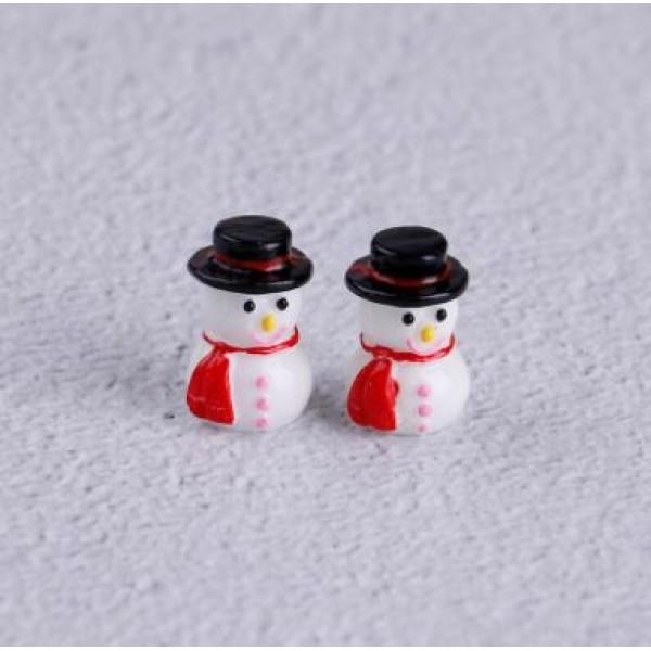 Зимний мини снеговик, р-р 2 см