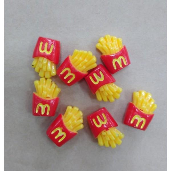 """""""Картофель фри"""" - декор для куклы, миниатюра, р-р 2 см"""