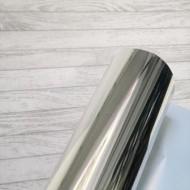 Термотрансферная пленка, серебро зеркальное отражение, размер 25Х20 см арт. 20-178