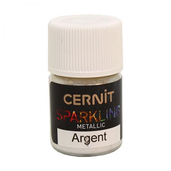 "Перламутровая пудра Cernit - CERNIT SPARKLING POWDER"" 5 гр (080 серебро) арт. CE9100005"