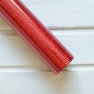 Термотрасферная пленка с глиттером, цвет красный, размер 20Х25см арт. G007