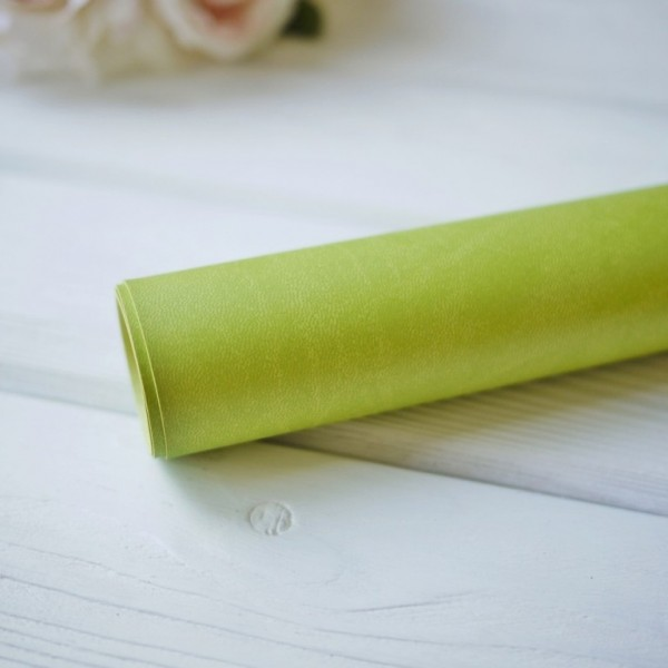 Переплетный кожзам (Италия), цвет оливковый