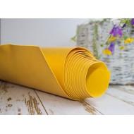 Переплетный кожзам (Италия), цвет желтый