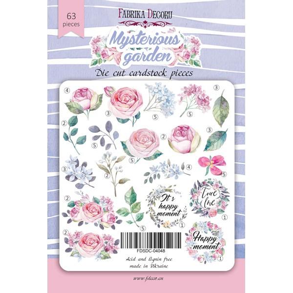 """Набор высечек, коллекция """"Mysterious garden"""",63 шт арт. FDSDC-04048"""