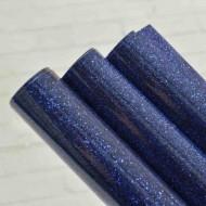 Термотрасферная пленка с глиттером, цвет синий, размер 20Х25 см