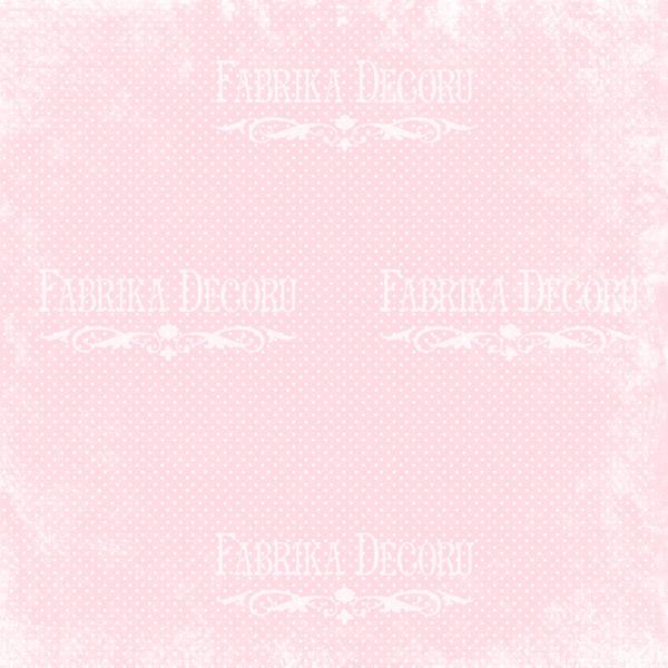 """Лист двусторонней  бумаги 30*30  из коллекции """"Shabby garden"""" от Фабрики Декору, SG6"""