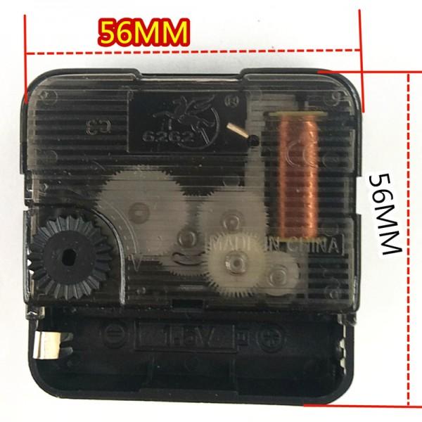 Часовой механизм со стрелками, бесшумный - ось длина 12,5 мм арт.6262